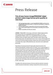 Trio of new Canon imagePROGRAF inkjet printers takes large ...