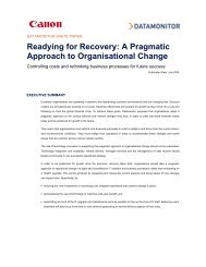 Readying for Recovery: A Pragmatic Approach to Organisational ...
