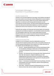 Technologie-Erklärungen – PowerShot S110 ... - Canon Deutschland