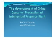 019 Lai The development of China Customs-222 Protection of ...
