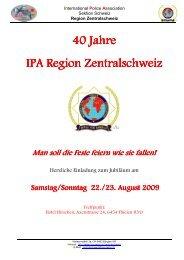 40 Jahre IPA Region Zentralschweiz / Einladung - IPA KIEL
