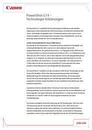 PowerShot G1X – Technologie-Erklärungen - Canon Deutschland
