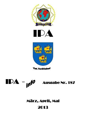 Ausgabe Nr. 187 März, April, Mai - Ipa-nordfriesland.de