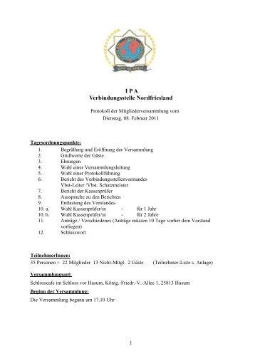Jahreshauptversammlung - Ipa-nordfriesland.de