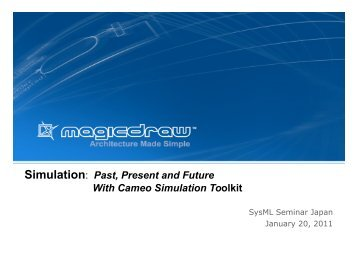 Simulation: Past, Present and Future With Cameo Simulation Toolkit