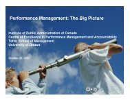 Performance Management: The Big Picture - The Institute of Public ...