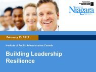 Building Leadership Resilience - The Institute of Public ...