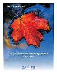 Ontario Municipal Benchmarking Initiative - The Institute of Public ...