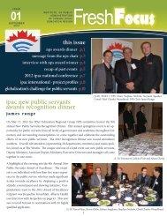 2012 September - Fresh Focus Newsletter - The Institute of Public ...