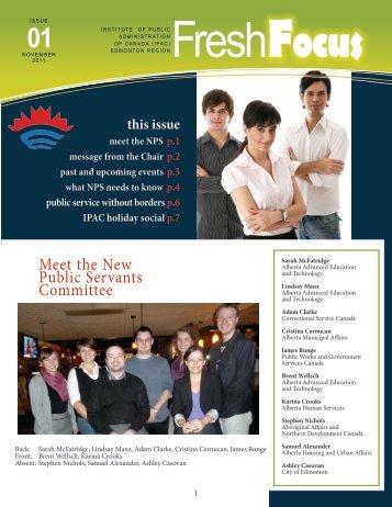 2011 November - Fresh Focus Newsletter - The Institute of Public ...