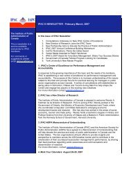 IPAC E-NEWSLETTER - February-March, 2007 - The Institute of ...