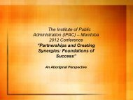 Perspectives on Partnership - The Institute of Public Administration ...