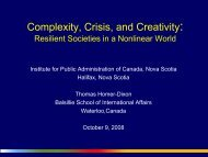 Complexity, Crisis, and Creativity: - The Institute of Public ...