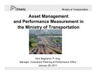 Asset Management and Performance Measurement in the Ministry of ...