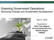 Greening Government Operations: