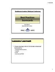 Best Practices Scorecards - The Institute of Public Administration of ...