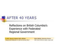 After 40 Years: Reflections on British Columbia's Experience with ...