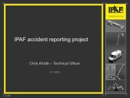 IPAF accident reporting project p g p j