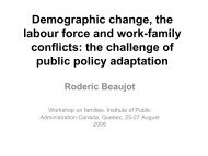 Demographic change, the labour force and work-family conflicts: the ...