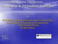 Leadership & Innovation in WCBs' - The Institute of Public ...
