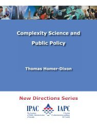Complexity Science and Public Policy - The Institute of Public ...