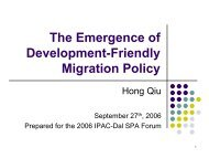 Hong Qiu - The Emergence of Development-Friendly Migration Policy