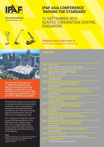 ipaf asia conference 'raising the standard' 14 september 2012 ...