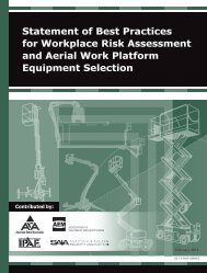 Statement of Best Practices for Workplace Risk Assessment ... - IPAF