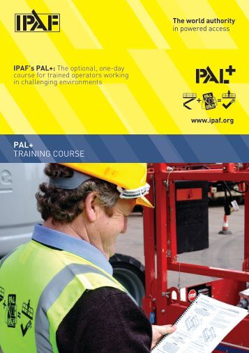 PAL+ TRAINING COURSE - IPAF