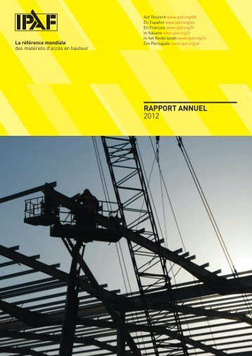 Rapport Annuel2012 - Ipaf