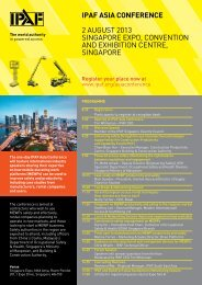 ASIA PLATFORM SHOWcASe 31 juLy – 2 AuguST 2013 - IPAF