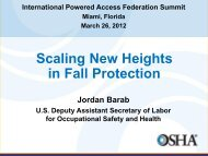 Jordan Barab - Scaling New Heights in Fall Protection - IPAF