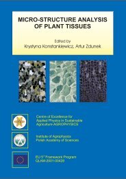 MICRO-STRUCTURE ANALYSIS OF PLANT TISSUES - Lublin