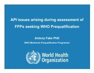 API issues arising during assessment of Finished Pharmaceutical ...