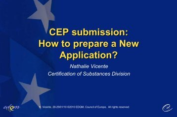CEP submission: How to prepare a New Application? CEP ...
