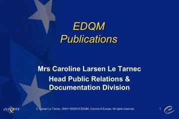 EDQM Publications