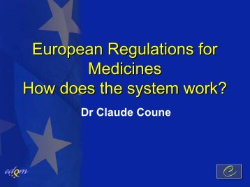 Claude Coune - EU Legislations