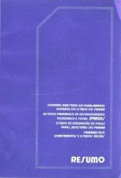 levantamentos e estudos iniciais - Ipardes