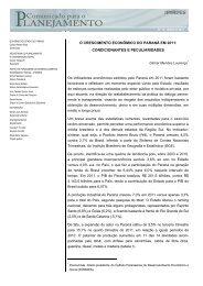 18. O crescimento econômico do Paraná em 2011 ... - Ipardes