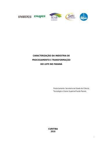 caracterização da indústria de processamento e ... - Ipardes