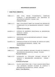 MESORREGIÃO NOROESTE 1 BASE FÍSICA AMBIENTAL - Ipardes