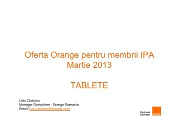 Oferta Orange IPA - Martie 2013 - TABLETE SI ... - IPA Romania