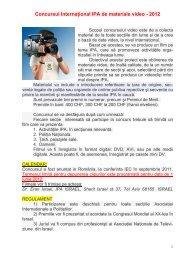 Concursul Internaţional IPA de materiale video - 2012 - IPA Romania