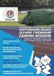 Olympic Friendship Camping Weekend - IPA Romania