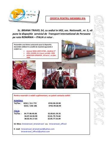 Sc. BRIANA TRAVEL Srl, cu sediul in IASI, sos ... - IPA Romania