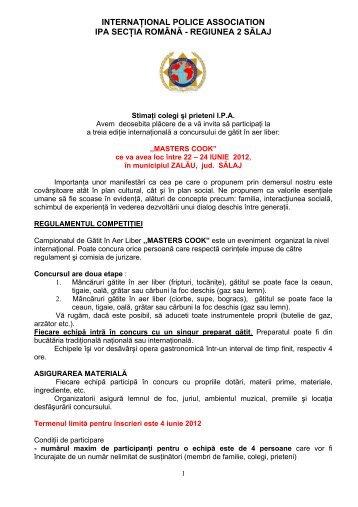 internaţional police association ipa secţia română ... - IPA Romania