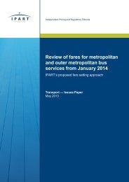 Review of fares for metropolitan and outer metropolitan bus services ...