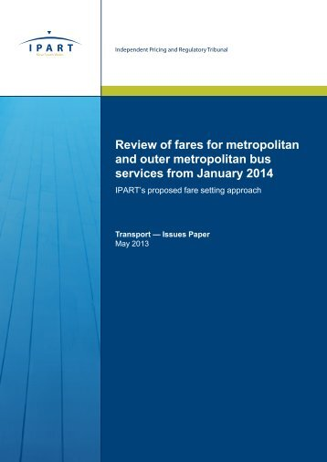 Review of fares for metropolitan and outer metropolitan bus services ...