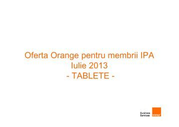Oferta Orange IPA - Tablete- 14 Iunie 2013-site ... - IPA Romania
