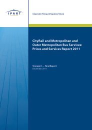 Prices and Services Report 2011 - IPART - NSW Government
